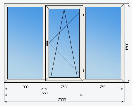 Если высота остекления балкона 2 м.